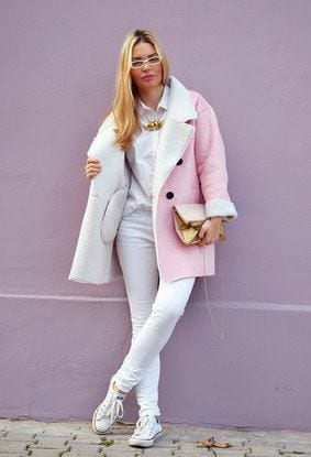 Pink-outfits-street-style1 Long Coat Styles -20 Ways to Wear Long Coats This Winter