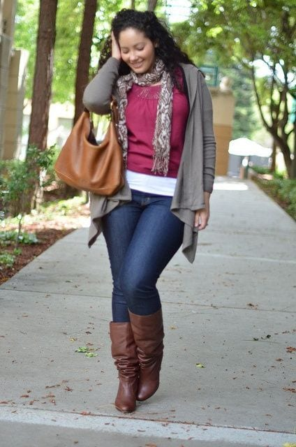 Plus-Size-women-Street-style Plus Size Winter Outfits-14 Chic Winter Style for Curvy Women