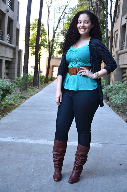 Plus-size-street-style1 Casual Outfits for Plus Size Women-14 Funky Curvy Women Style