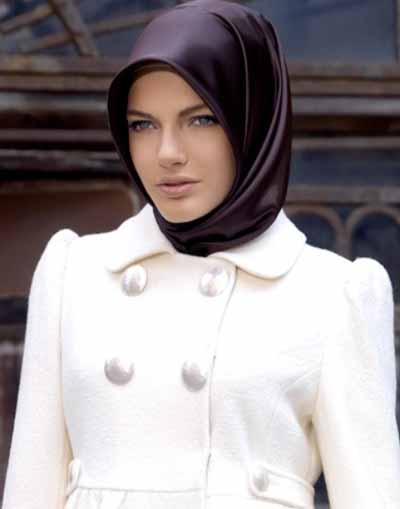 Silk-hijab-style 14 Latest Turkish Hijab Styles-Simple Turkish Hijab Tutorial