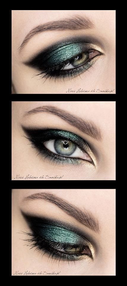 Smokey-Eye-Look-For-BROWN-GREEN-EYES Top 10 Smokey Eye Makeup Tutorials for Green Eyes