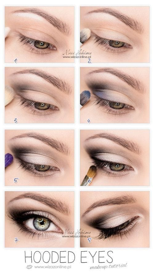 Stylish makeup for green eyes