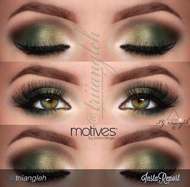Ways-to-Get-Smoky-Eyes-With-Makeup Top 10 Smokey Eye Makeup Tutorials for Green Eyes