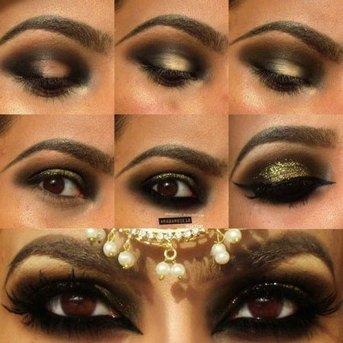 arabic-eye-makeup-tutorial 10 Best Arabian Eye Makeup Tutorials With Step by Step Tips