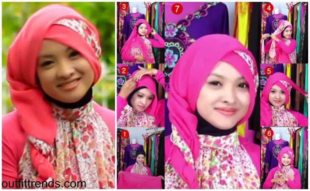 floral-paris-hijab 10 Simple Hijab Paris Tutorials You Can Do Less Than Minute
