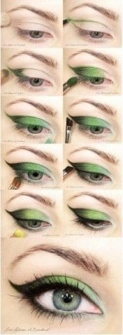 green eyes party makeup tutorial