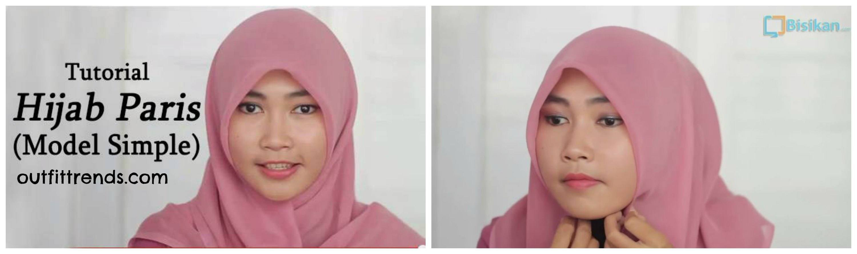 Tutorial Hijab Paris Gaya Ikat | animegue.com