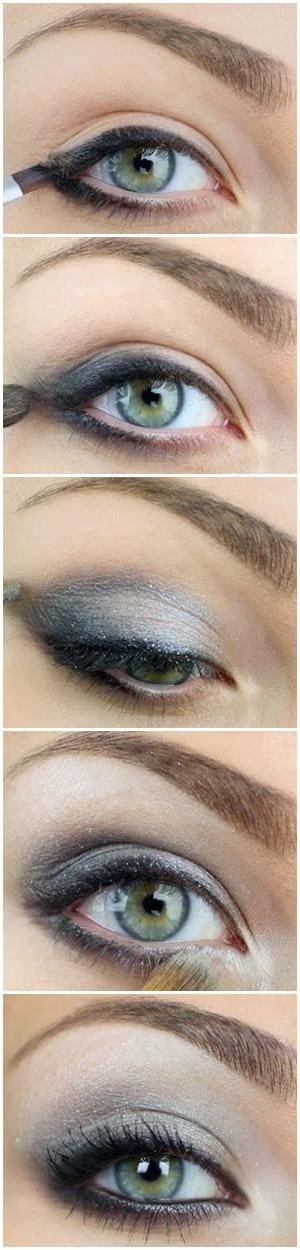 how-to-do-makeup-for-green-eyes Top 10 Smokey Eye Makeup Tutorials for Green Eyes