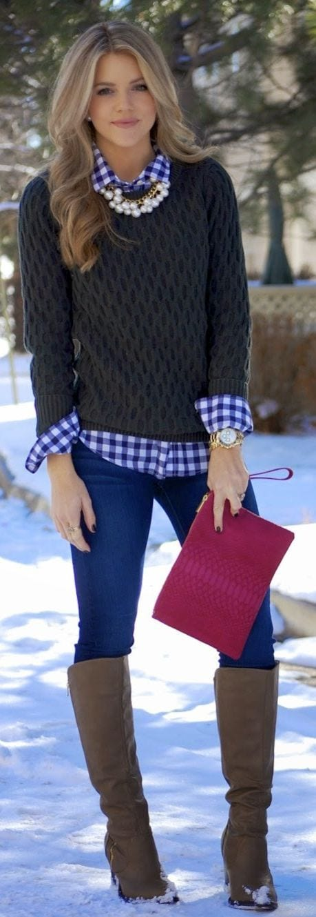 how-to-style-sweater-for-date-night How to Dress Up for Winter Date- 30 Cute Winter Date Outfits