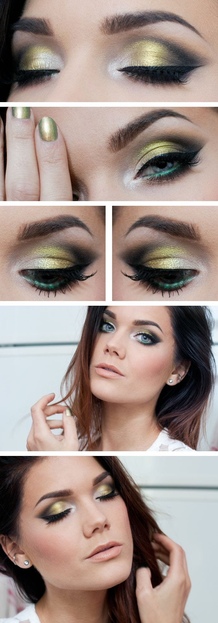linda hallberg green smokey eye tutorial