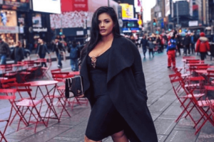 plus size street style black outfit