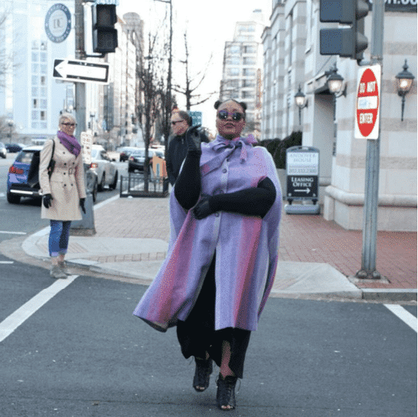 plus-size-street-style-printed-coat 12 Hot Plus Size Street Style Fashion Ideas for This Season