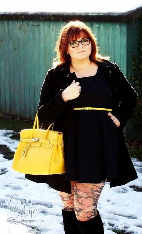 plus-size-winter-party-dresses Plus Size Winter Outfits-14 Chic Winter Style for Curvy Women