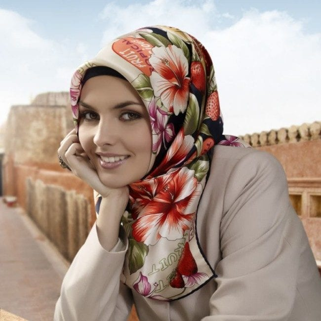 printed turkish hijab style