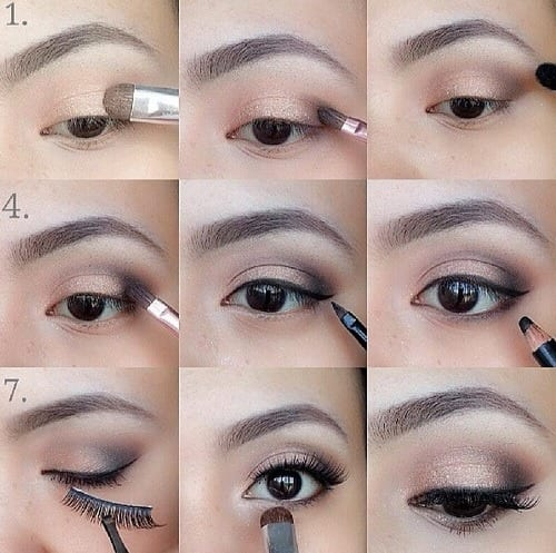step-by-step-arabian-eye-makeup1 10 Best Arabian Eye Makeup Tutorials With Step by Step Tips