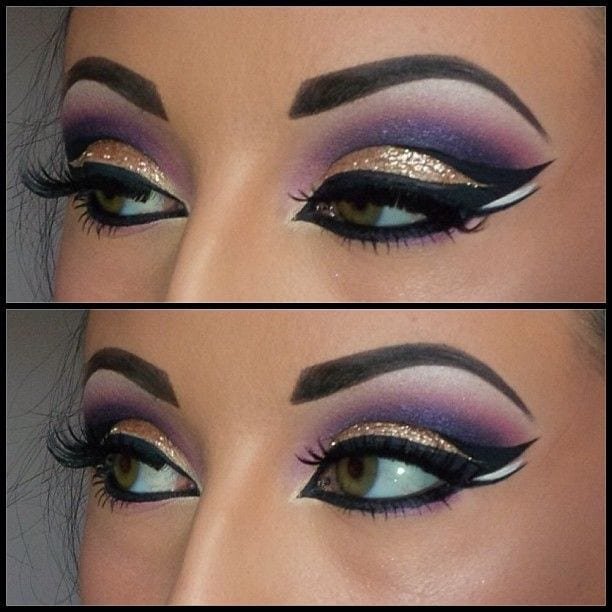 stylish makeup arabian girls