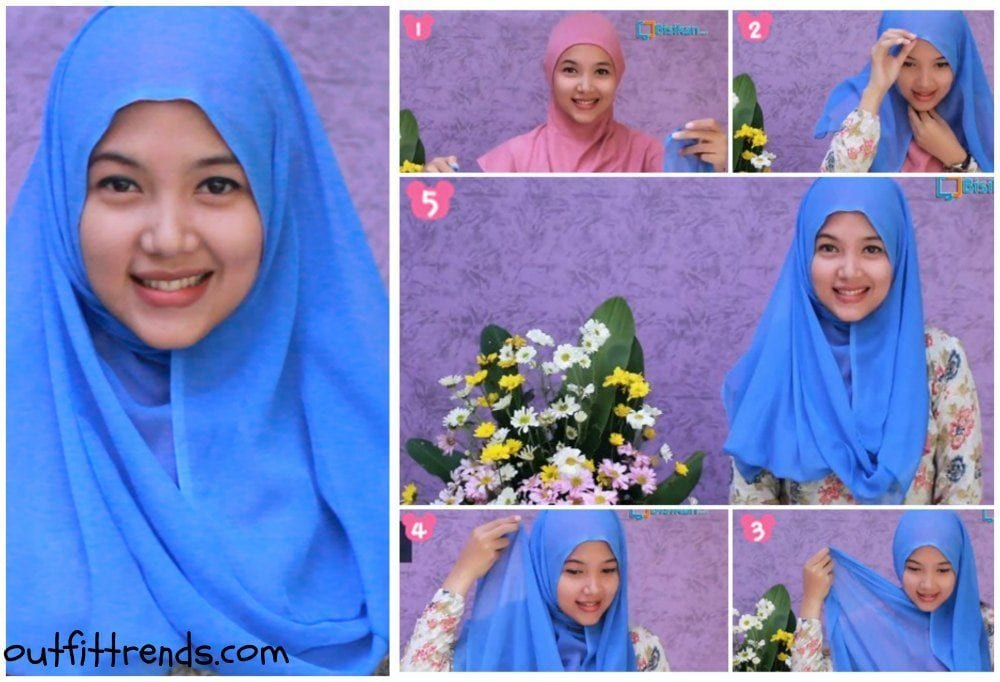 tutorial hijab paris simple casual