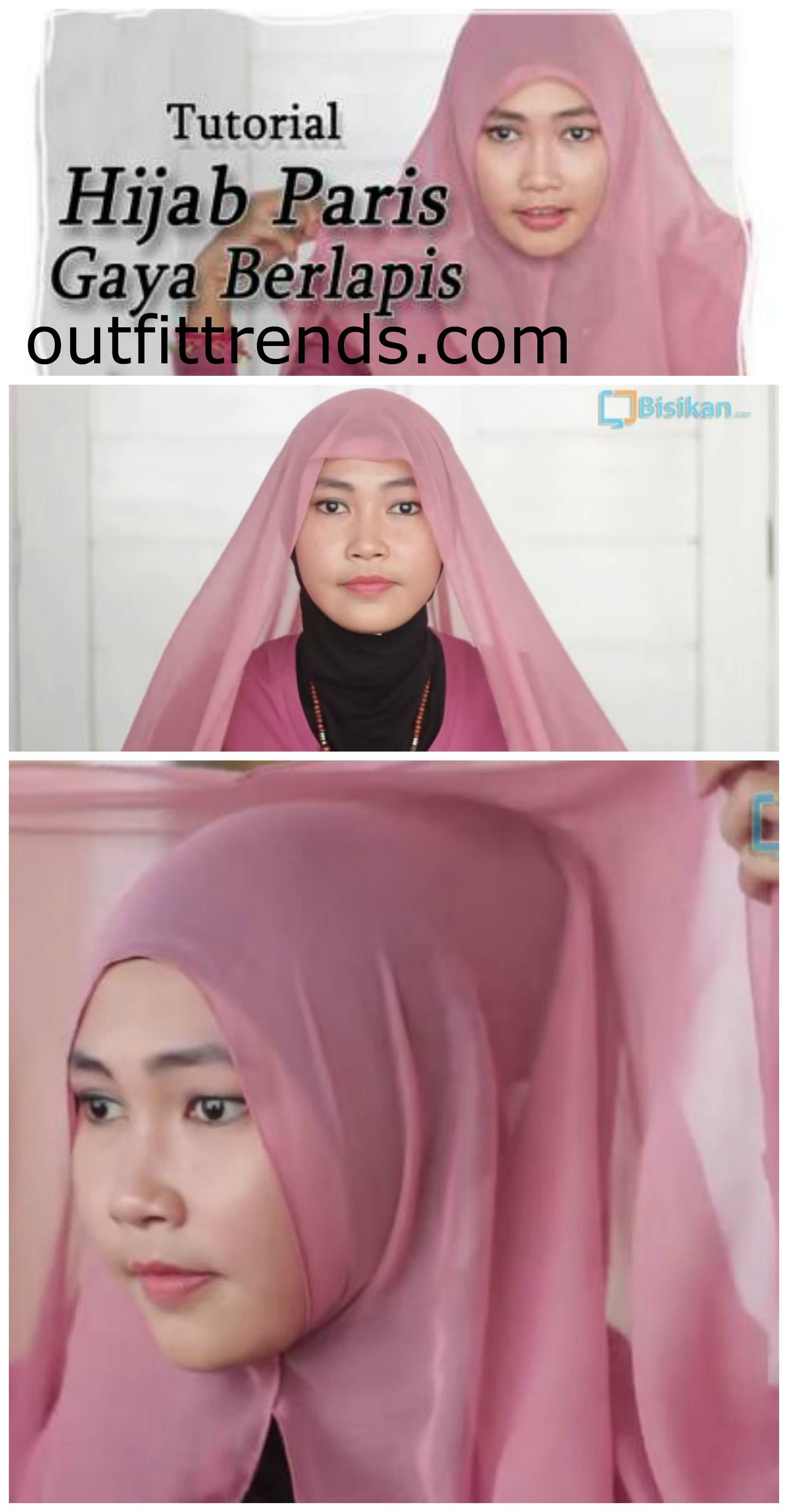 tutorial hijab paris simple modern