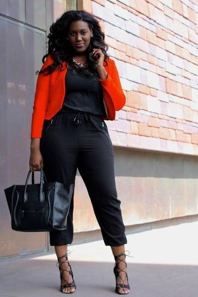 winter style black curvy women