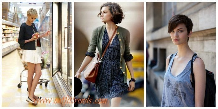 25 Cute Outfits With Short Hair,Dressing Style Ideas