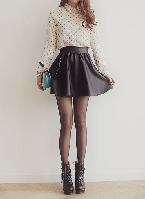 How to wear combat boots with skirts