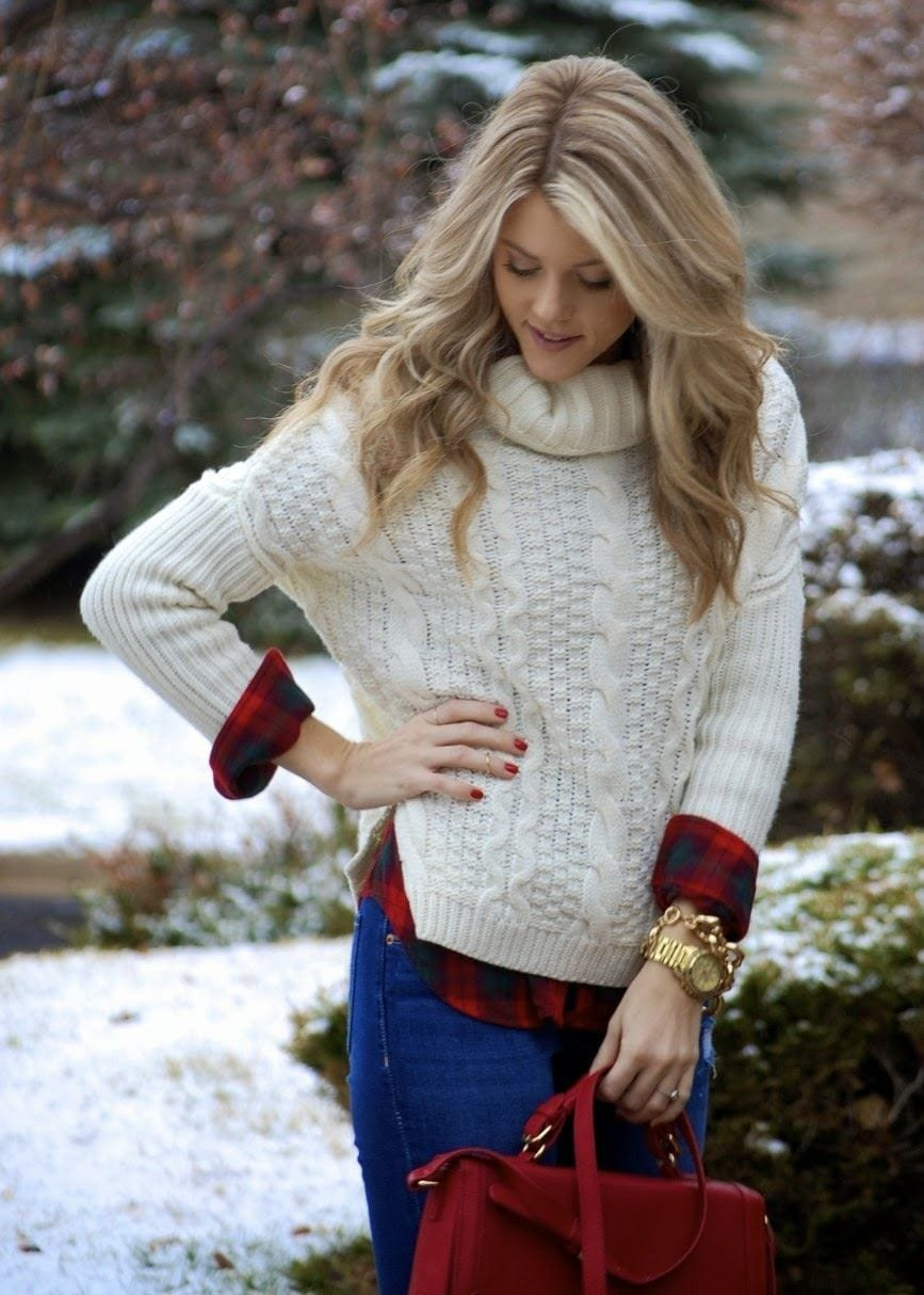 Match-sweater-with-outfits 23 Cute Winter Outfits For College/High School Girls