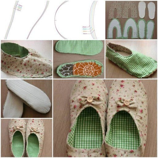 WOMENS-HOUSE-SLIPPERS-DIY-TUTORIAL-INSTRUCTIONS Top 50 DIY Winter Fashion Projects With Simple Tutorials