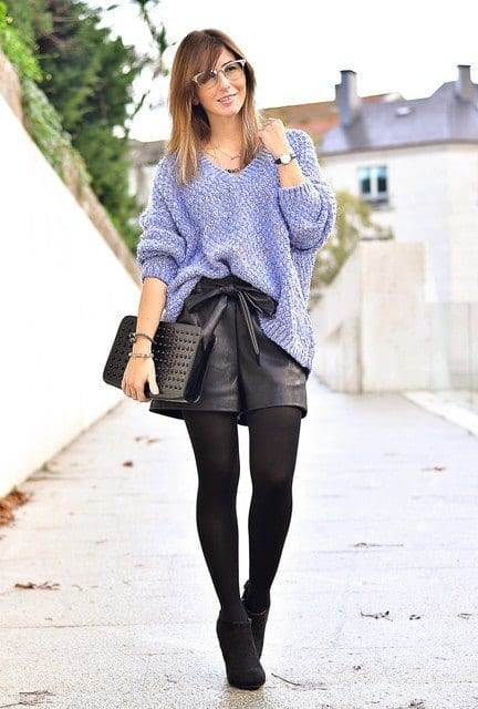 outfits to wear with skirts for fall (10)