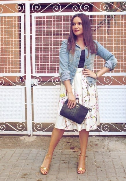 outfits to wear with skirts for fall (8)