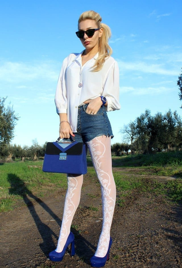 furla-dark-blue-dvccio-gioielli-gioiellilook-main-single 20 Cute Outfits To Wear With White Tights/Leggings This Season