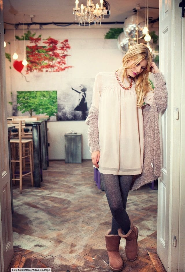 hm-dresses-orsay-cardiganslook-main-single 18 Cute Outfits to Wear with Uggs Boots This Winter