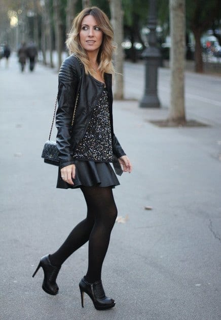 outfits to wear with skirts for fall (7)