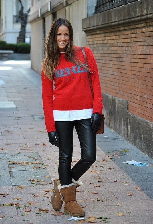 kenzo-rojo-zara-jerseyslook-main-single 18 Cute Outfits to Wear with Uggs Boots This Winter