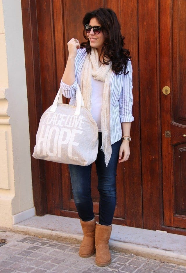 mango-camisas-blusas-ugg-australia-botaslook-main-single 18 Cute Outfits to Wear with Uggs Boots This Winter