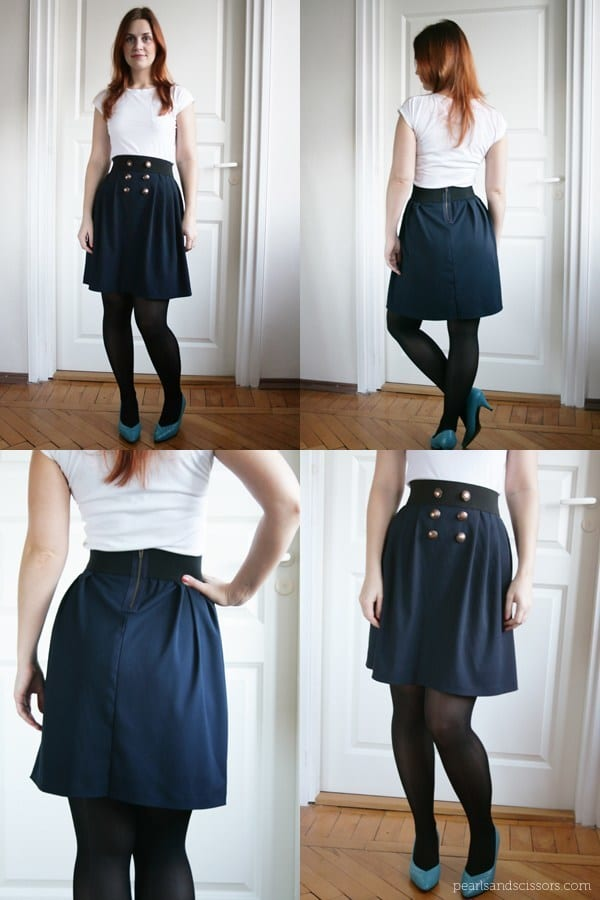 navy-pleated-skirt-collage Top 50 DIY Winter Fashion Projects With Simple Tutorials