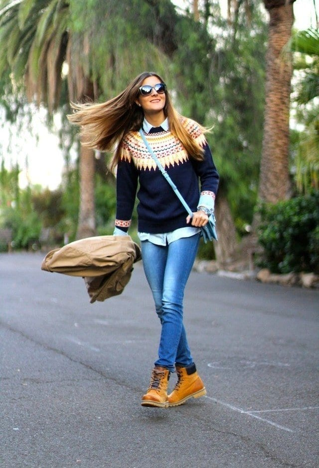 winter outfits with timberland for girls (4)
