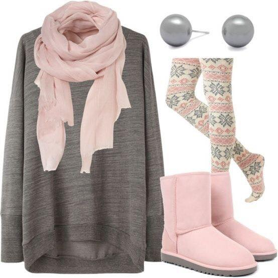 outfit-with-tights-teens 23 Cute Winter Outfits For College/High School Girls