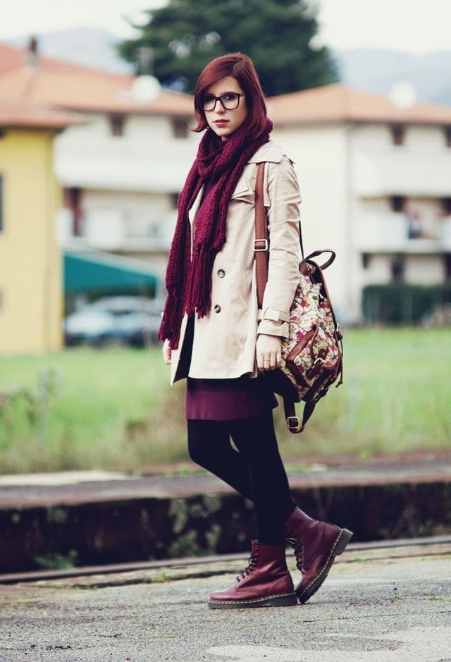 winter outfits to wear with combat boots (5)