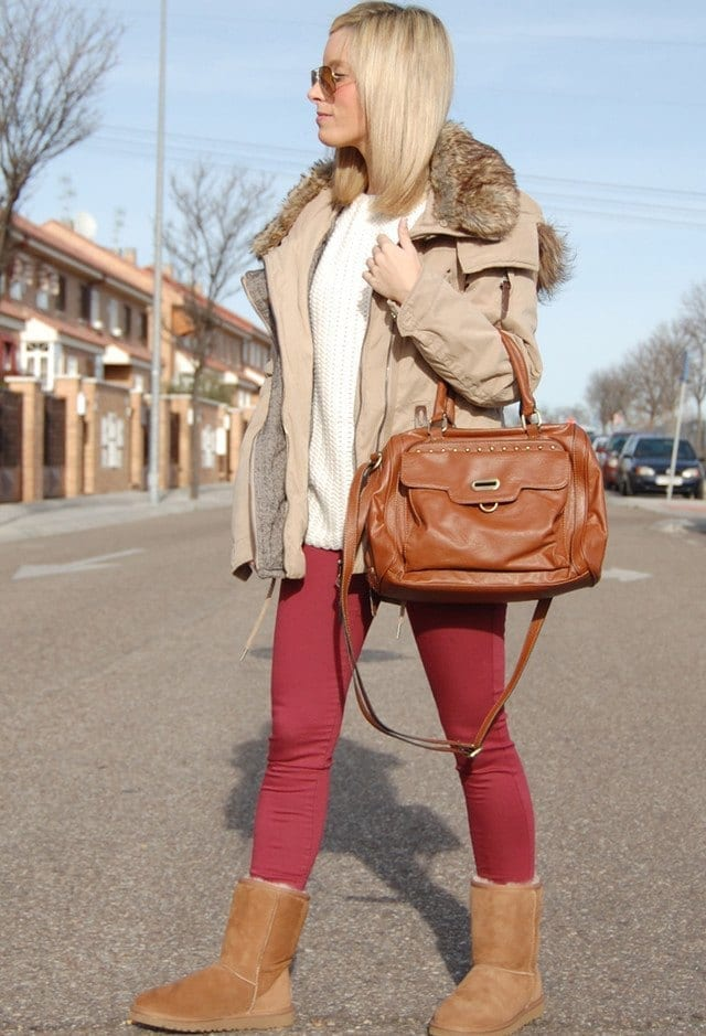 Uggs outfits for college girls (10)
