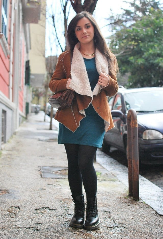 winter outfits to wear with combat boots (4)