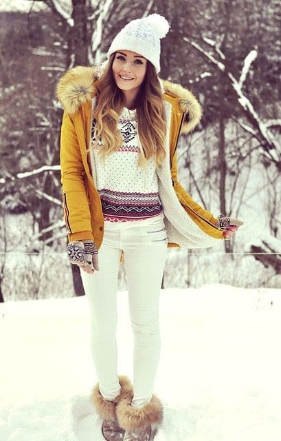 rosewe-white-sheinside-dark-bluelook-main-single 23 Cute Winter Outfits For College/High School Girls