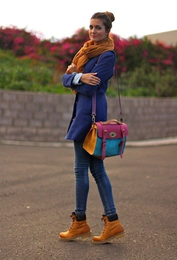 cute outfits with timberland heels