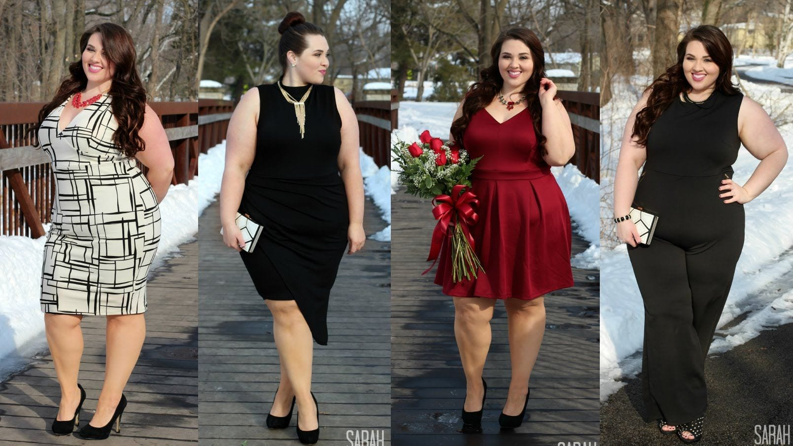 elegant black dresses for plus size women