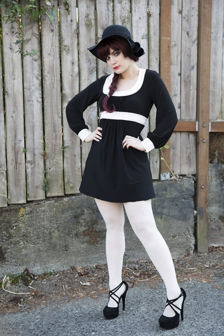 white-tights45 20 Cute Outfits To Wear With White Tights/Leggings This Season