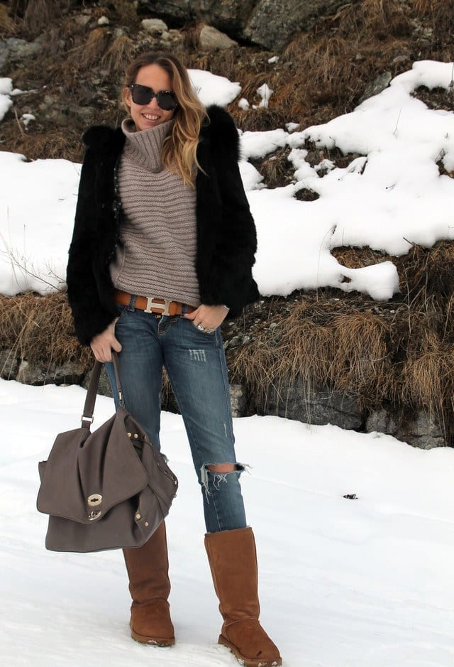 Uggs outfits for college girls (6)