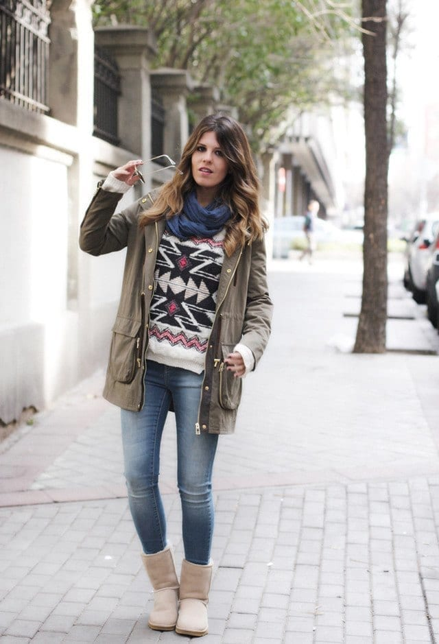 zara-gabardinas-bershka-jerseyslook-main-single 18 Cute Outfits to Wear with Uggs Boots This Winter