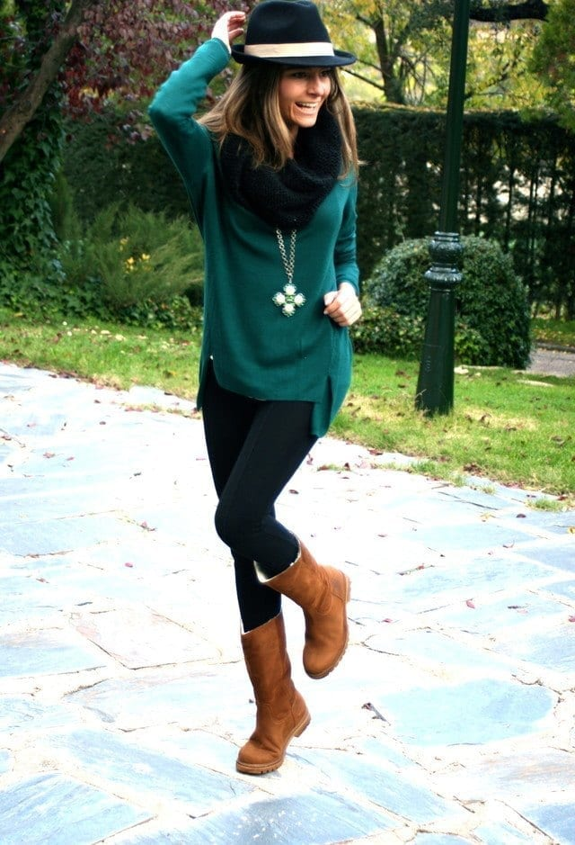 zara-verde-oscuro-suite-jerseyslook-main-single 18 Cute Outfits to Wear with Uggs Boots This Winter