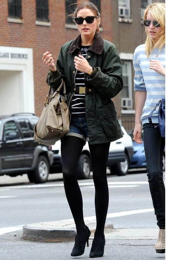 9_olivia-palermo Top 10 Celebrities Military Inspired Outfit Ideas