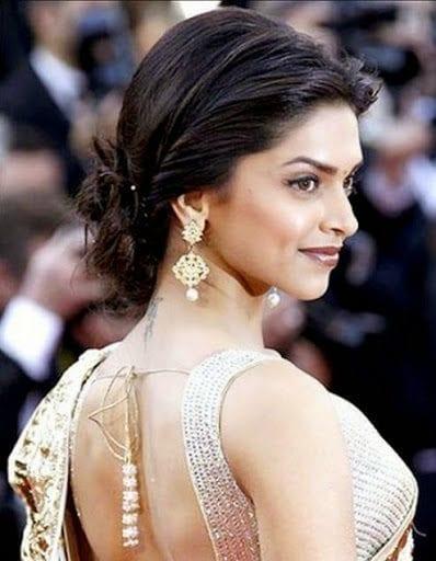 Peachy 20 Cute Celebrities Inspired Hairstyles To Wear With Saree Short Hairstyles Gunalazisus