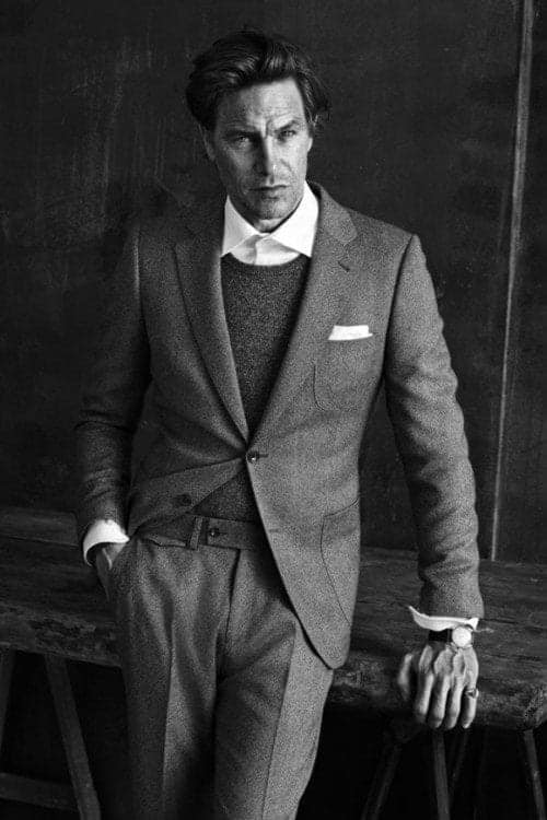 classy-will-ferrell-grey-suit-pinky-ring-pocket-square-no-belt-no-tie-580x870 20 Best Men's Spring Casual Outfits Combination Ideas